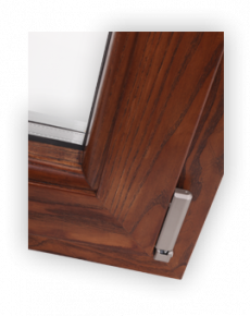 Wood aluminium window - Angle 45°