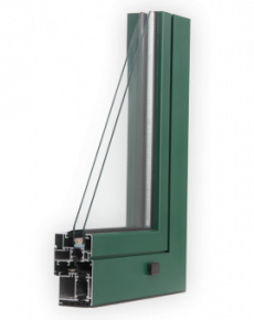 Aluminum window with thermal break - Seicento