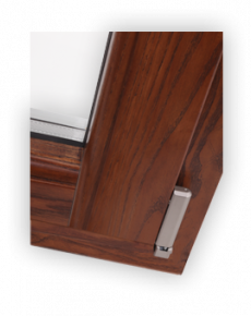 Wood aluminium window - Angle 90°