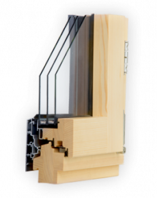 Wood-aluminium window Omega