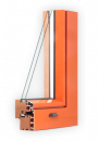Wood aluminium window - Slim - Complanare version